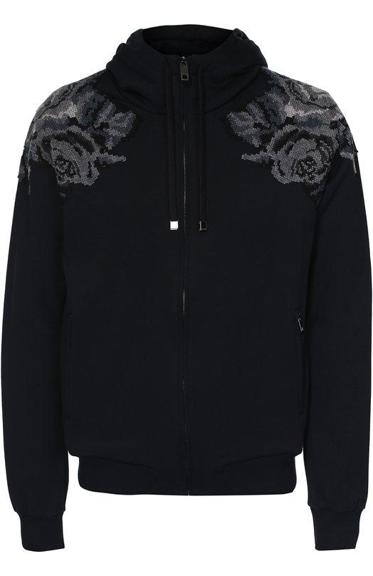 Хлопковая толстовка на молнии с вышивкой Dolce & Gabbana 0101/G9GU9Z/G7IHK
