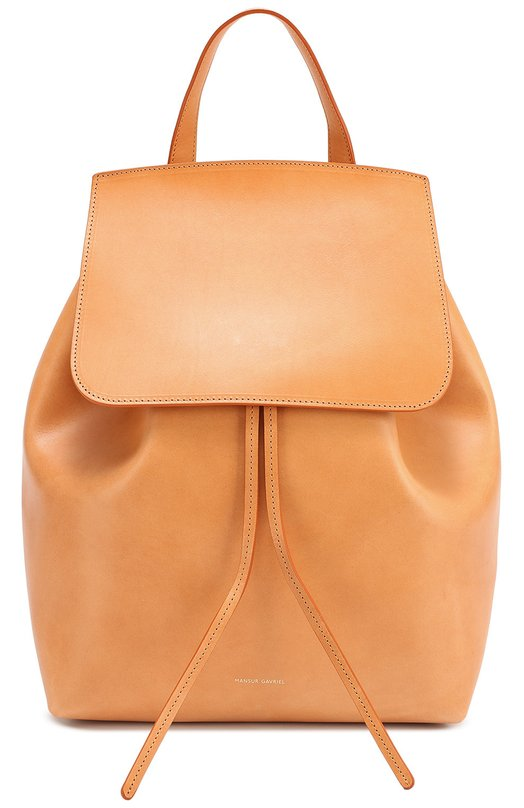 Кожаный рюкзак с клапаном Mansur GavrielРюкзаки<br>Рэйчел Мансур и Флориана Гавриэль включили рюкзак бежевого цвета в коллекцию сезона осень-зима 2016 года. Модель сшита из матовой гладкой кожи. В аксессуар поместятся зонт, планшет и бумаги формата А4, во внутренний карман на молнии – ключи.<br><br>Пол: Женский<br>Возраст: Взрослый<br>Размер производителя vendor: NS<br>Материал: Кожа натуральная: 100%;<br>Цвет: Бежевый
