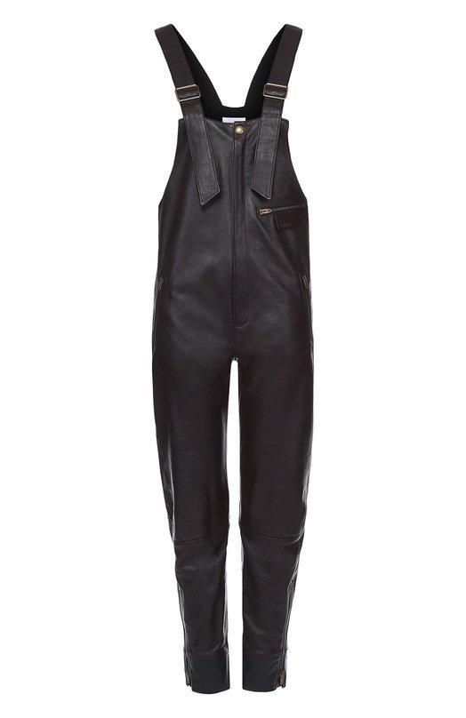 Приталенный кожаный комбинезон Chloe 16HCL05/16H200