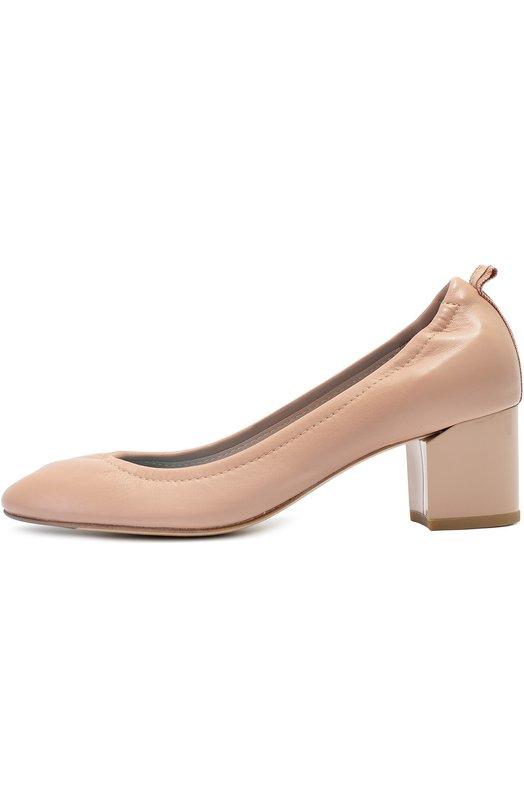 Кожаные туфли на фигурном каблуке Lanvin FW-BAPB1G-EXAA-A16