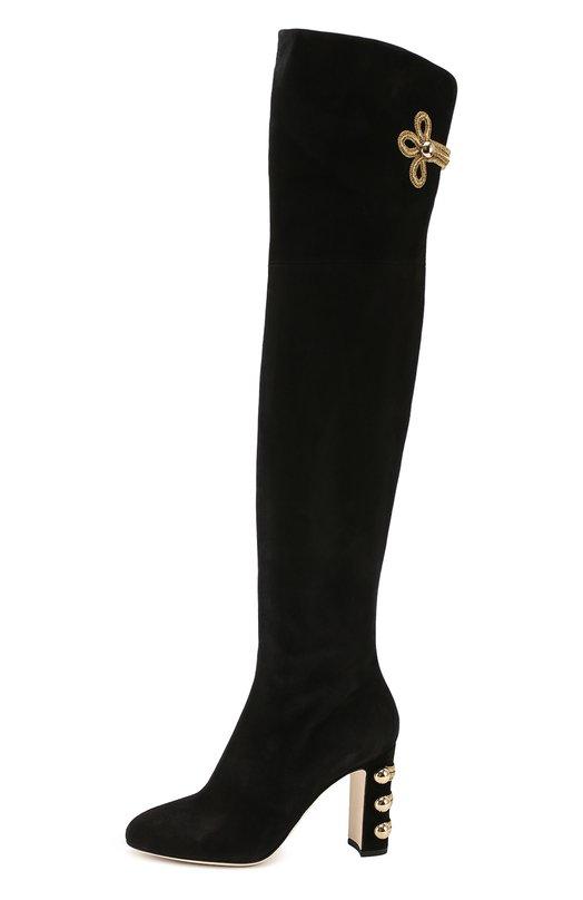 Ботфорты с декоративной отделкой Dolce & Gabbana 0112/CU0337/AE650