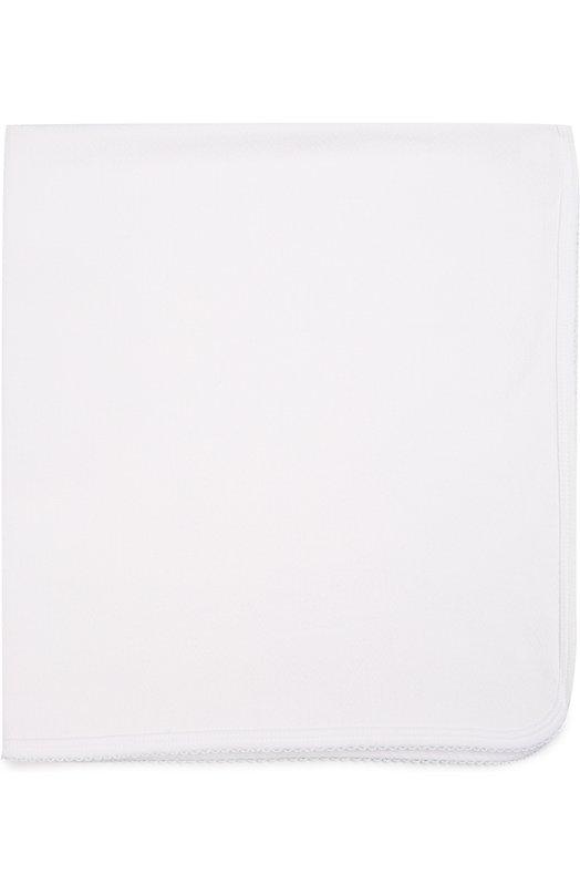 Одеяло из хлопка Kissy KissyАксессуары<br>Одеяло белого цвета декорировано вязаным кружевом. Для изготовления двухслойного аксессуара мастера марки использовали мягкий гладкокрашеный хлопок пима. Изделие также можно использовать как плед во время прогулки в коляске.<br><br>Пол: Женский<br>Возраст: Для малышей<br>Размер производителя vendor: NS<br>Материал: Хлопок: 100%;<br>Цвет: Белый