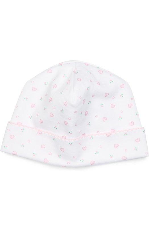 Шапка из хлопка с принтом Kissy KissyАксессуары<br><br><br>Российский размер RU: 48<br>Пол: Женский<br>Возраст: Для малышей<br>Размер производителя vendor: SM<br>Материал: Хлопок: 100%;<br>Цвет: Розовый