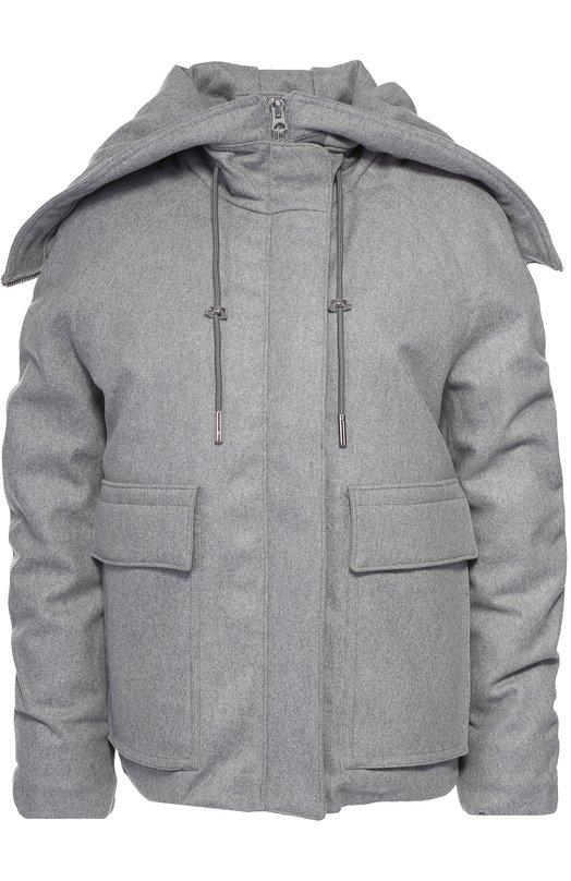 Укороченный пуховик с накладными карманами и капюшоном Acne Studios 12A163