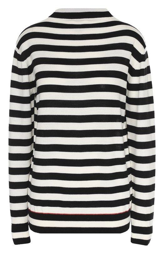 Удлиненный шерстяной пуловер в контрастную полоску Moncler B2-093-92893-00-99685