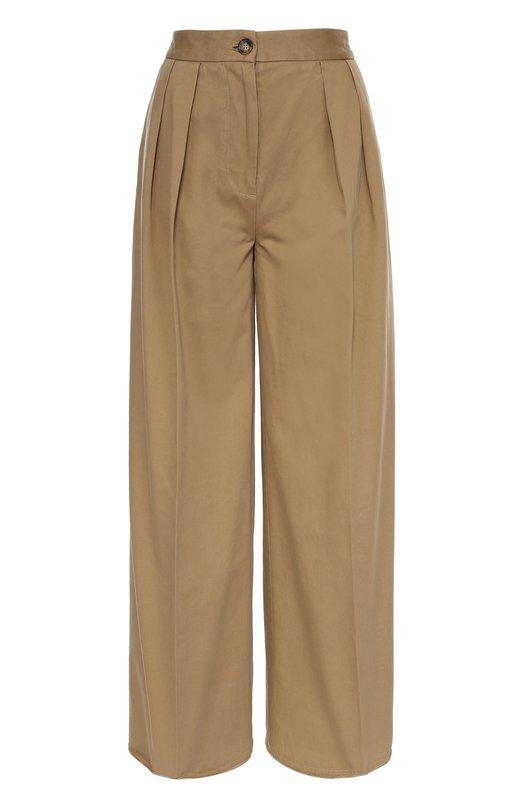 Широкие брюки с завышенной талией и защипами Moncler B2-093-16416-00-57950