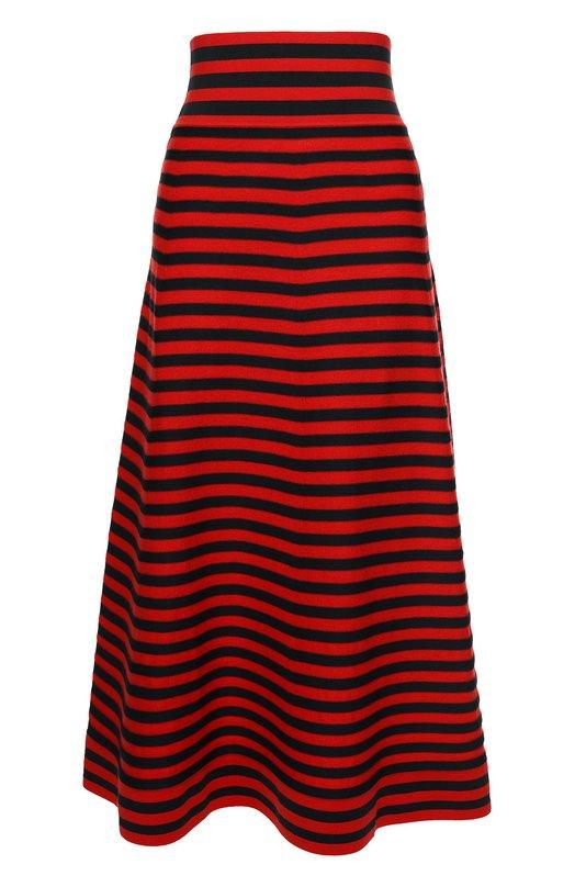 Вязаная юбка-миди в полоску с широким поясом Sonia Rykiel 16H 16177212-EF
