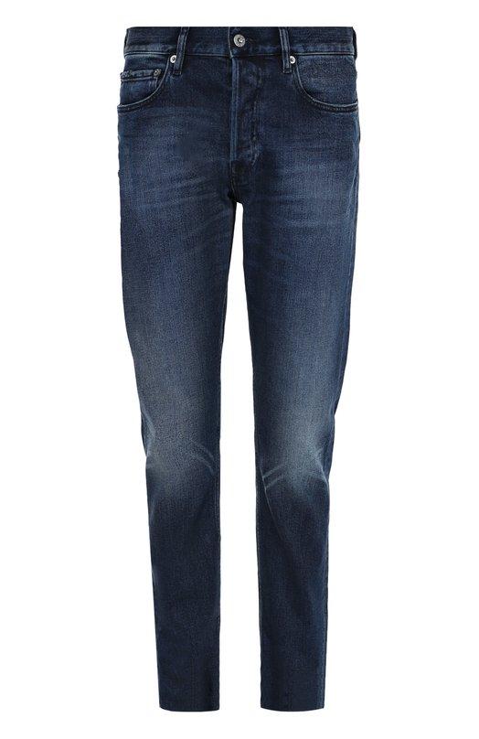 Зауженные джинсы с потертостями Stone Island 6515J4BKA