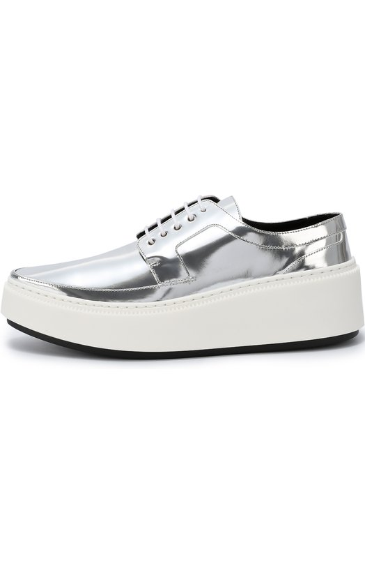 Ботинки из металлизированной кожи с зауженным мысом Kenzo F662L0324L57