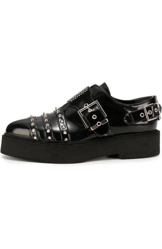Кожаные ботинки с заклепками Alexander McQueen 446887/WHNM0