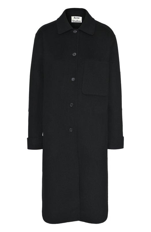 Шерстяное пальто прямого кроя с накладным карманом Acne Studios 12A164