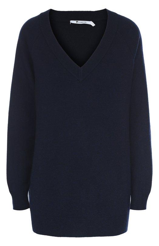 Удлиненный пуловер свободного кроя с V-образным вырезом T by Alexander Wang 402317F