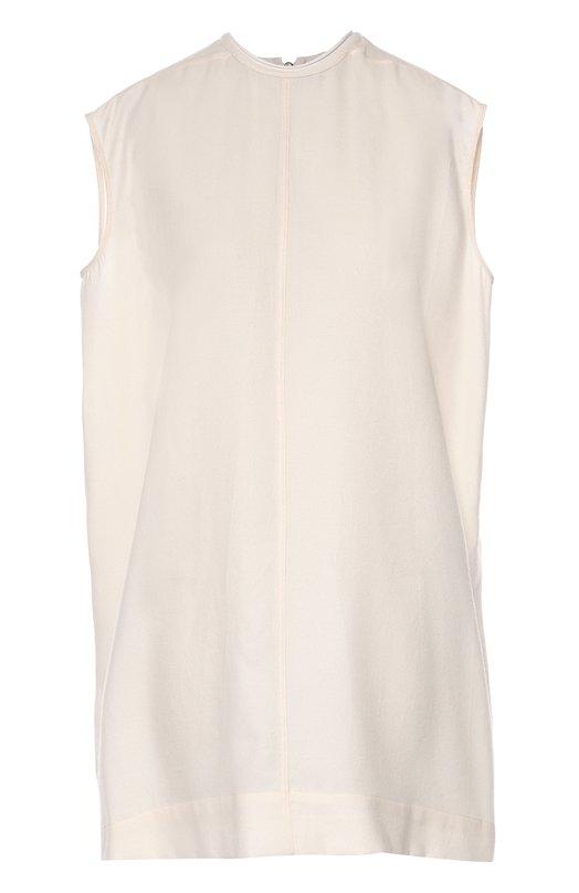 Платье свободного кроя без рукавов Rick OwensПлатья<br>Кремовое короткое платье прямого кроя, без рукавов вошло в осенне-зимнюю коллекцию 2016 года. Рик Оуэнс выбрал для его создания мягкий струящийся текстиль на основе шерсти и шелка. Модель застегивается сзади на молнию с длинными пуллером.<br><br>Российский размер RU: 46<br>Пол: Женский<br>Возраст: Взрослый<br>Размер производителя vendor: 44<br>Материал: Шелк: 58%; Шерсть: 42%;<br>Цвет: Кремовый
