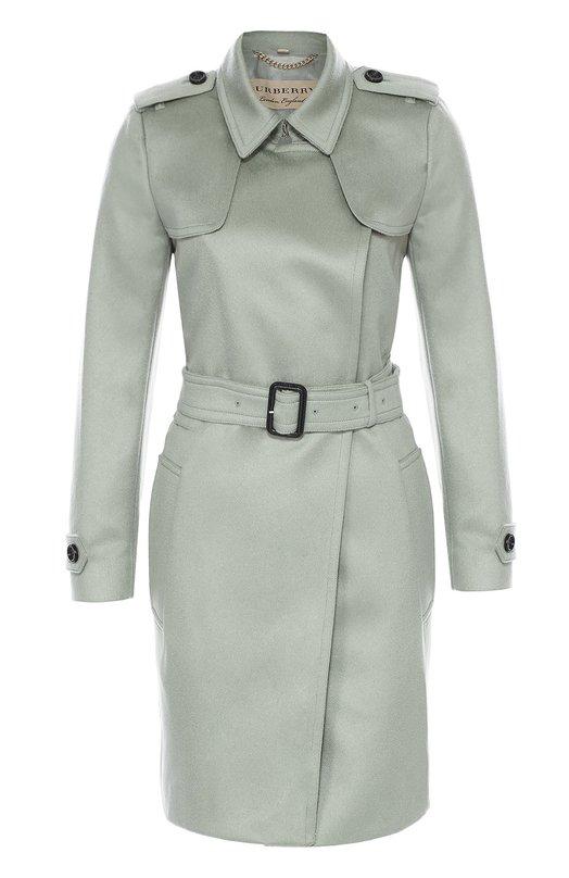 Кашемировое пальто с поясом и погонами Burberry 4023059