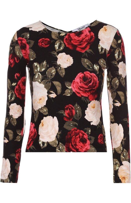 Облегающий топ с длинным рукавом и цветочным принтом Blugirl 02202