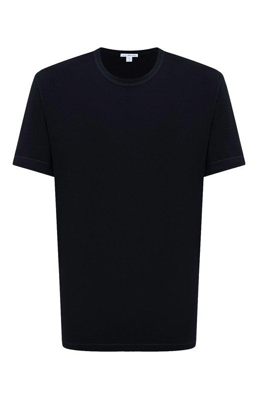 Хлопковая футболка с круглым вырезом James PerseФутболки<br>&amp;bull; Москва 61 EUR (4 250 RUB)&amp;bull; Милан 75 EUR&amp;bull; Лондон 67 EUR (60 GBP)&amp;bull; Дубай 74 EUR (300 AED) В осенне-зимней коллекции 2016 года Джеймс Пирс обновил цвета базовой футболки. Мастера бренда сшили темно-синюю футболку с короткими рукавами и круглым вырезом из ультратонкого и мягкого хлопка джерси. Советуем носить с темными брюками и курткой.<br><br>Российский размер RU: 52<br>Пол: Мужской<br>Возраст: Взрослый<br>Размер производителя vendor: 3<br>Материал: Хлопок: 100%;<br>Цвет: Темно-синий
