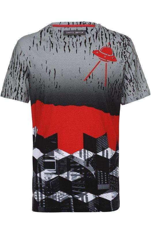 Хлопковая футболка с принтом Frankie Morello FMJT39AMC011