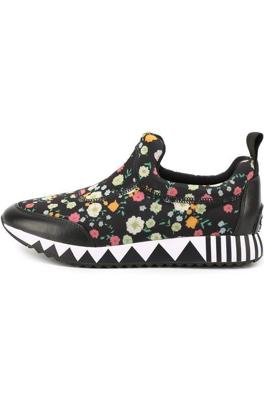 Текстильные кроссовки с цветочным принтом Tory Burch 32424