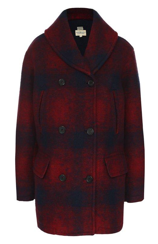 Двубортное пальто прямого кроя в клетку Denim&Supply by Ralph Lauren W34/RLSTI/SDWEZ