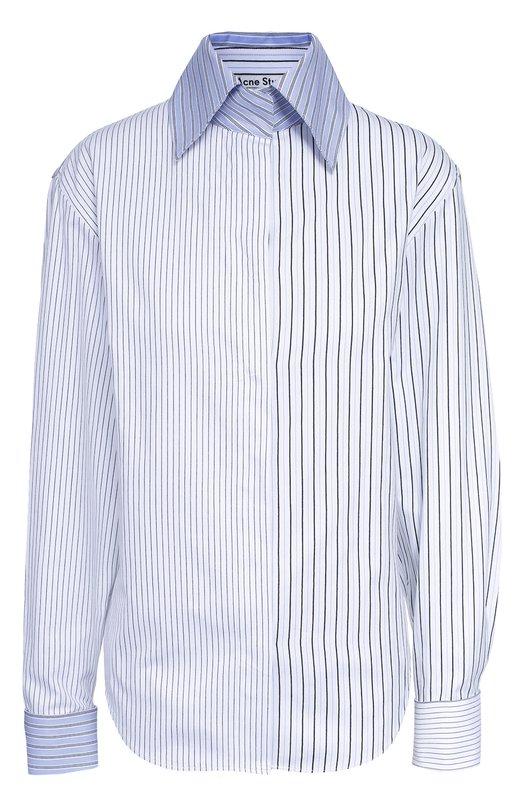 Блуза свободного кроя в полоску Acne Studios 11D163
