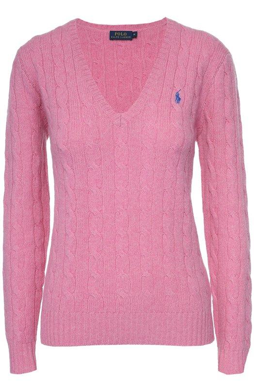 Пуловер фактурной вязки с V-образным вырезом Polo Ralph Lauren V39/I0KMB/W9704