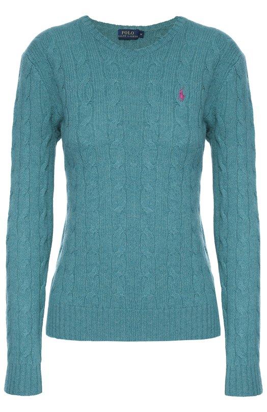 Пуловер фактурной вязки с логотипом бренда Polo Ralph Lauren V39/I0JLA/W6608