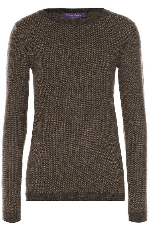 Приталенный пуловер с круглым вырезом Ralph LaurenСвитеры<br><br><br>Российский размер RU: 44<br>Пол: Женский<br>Возраст: Взрослый<br>Размер производителя vendor: M<br>Материал: Шелк: 8%; Кашемир: 72%; Шерсть: 19%; Полиамид: 1%;<br>Цвет: Коричневый