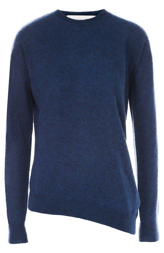 Пуловер асимметричного кроя с круглым вырезом Stella McCartneyСвитеры<br>Стелла Маккартни включила модель Airforce в осенне-зимнюю коллекцию 2016 года. Для создания пуловера асимметричного кроя, с круглым вырезом и длинными рукавами мастера бренда использовали мягкую шерсть синего цвета. Рекомендуем носить с голубыми джинсами, красной сумкой и белыми кедами.<br><br>Российский размер RU: 40<br>Пол: Женский<br>Возраст: Взрослый<br>Размер производителя vendor: 38<br>Материал: Шерсть овечья: 100%;<br>Цвет: Синий