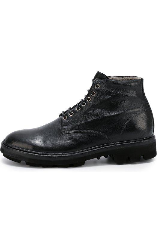 Высокие кожаные ботинки с внутренней отделкой из овчины Raparo I16021