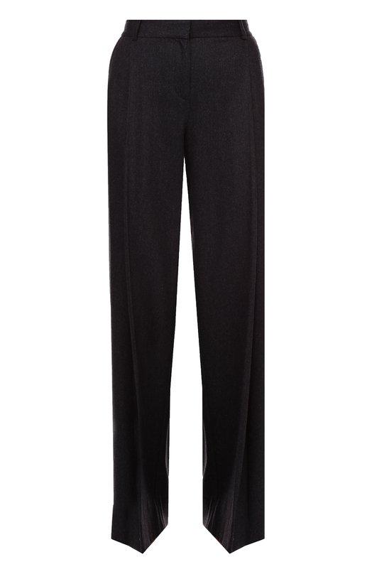 Шерстяные широкие брюки со стрелками Diane Von FurstenbergБрюки<br><br><br>Российский размер RU: 40<br>Пол: Женский<br>Возраст: Взрослый<br>Размер производителя vendor: 2<br>Материал: Шерсть: 90%; Кашемир: 8%; Эластан: 2%;<br>Цвет: Темно-серый