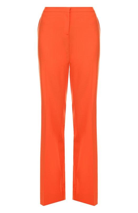 Шерстяные широкие брюки со стрелками Diane Von FurstenbergБрюки<br><br><br>Российский размер RU: 38<br>Пол: Женский<br>Возраст: Взрослый<br>Размер производителя vendor: 0<br>Материал: Шерсть: 96%; Эластан: 4%;<br>Цвет: Оранжевый