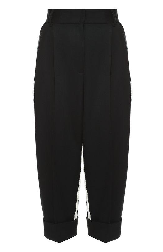 Укороченные брюки с завышенной талией и контрастными лампасами Dolce & Gabbana 0102/FTAPJT/FUCCR