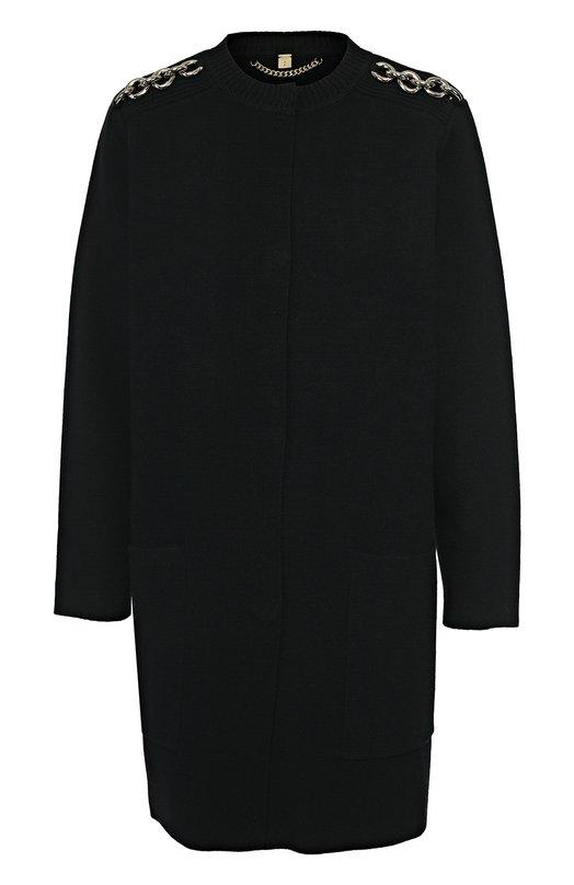 Пальто с круглым вырезом и декоративными погонами Burberry 4025256
