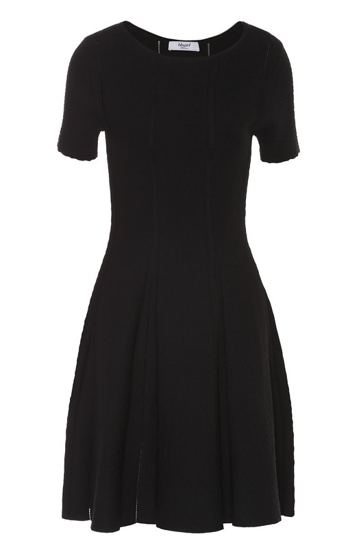 Приталенное платье с перфорацией и коротким рукавом Blugirl 02114