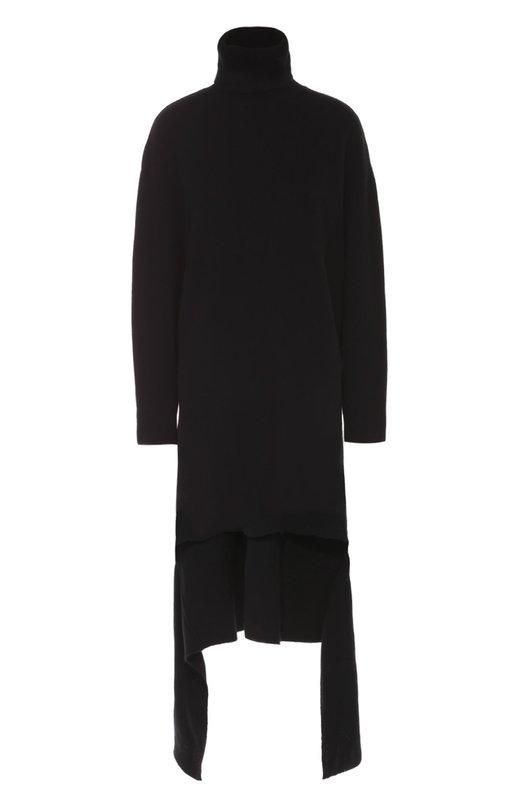 Вязаное платье асимметричного кроя с высоким воротником Balenciaga 446498/T1371