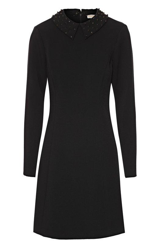Приталенное мини-платье с декорированным отложным воротником Michael Michael Kors MF68WFS3GZ
