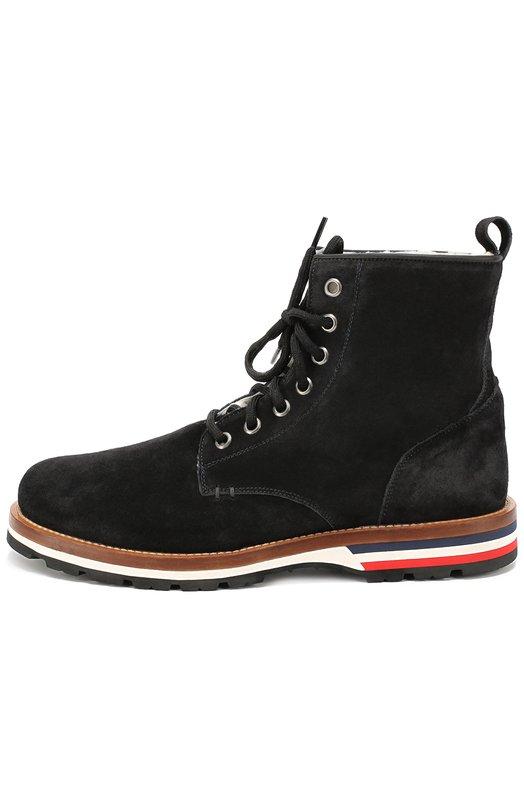 Замшевые ботинки на подошве с цветными вставками Moncler B2-09A-10162-00-01543