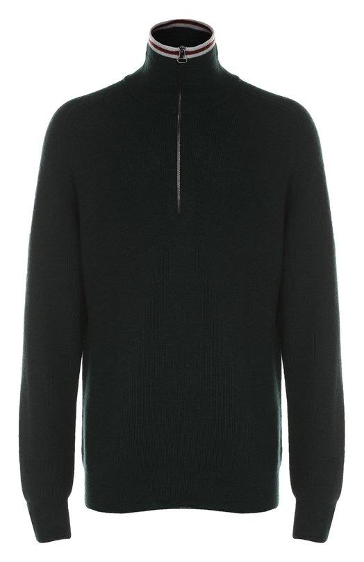 Шерстяной свитер с воротником на молнии Lanvin RMP00024A16