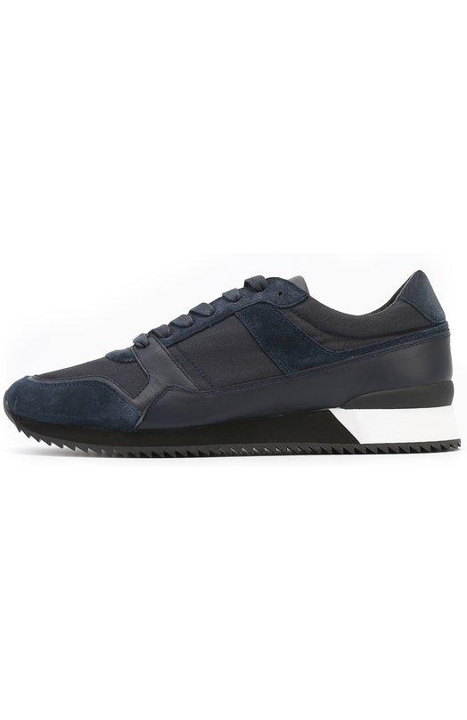 Комбинированные кроссовки на контрастной подошве Armani Collezioni X6X012/XG661