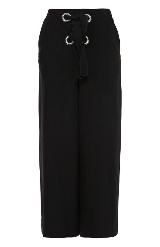 Укороченные широкие брюки с декоративной шнуровкой Proenza Schouler R164611-AY071
