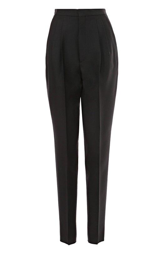 Шерстяные брюки-бананы с защипами Saint Laurent 445280/Y062W