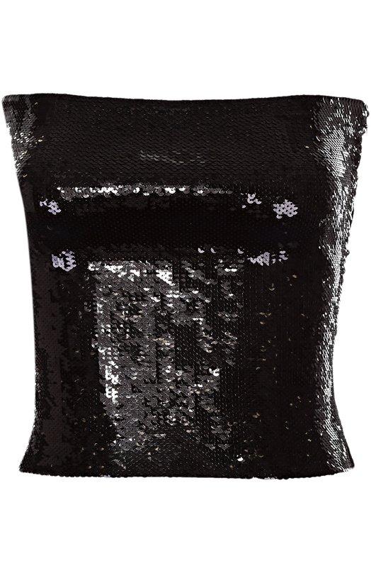 Облегающий топ без бретелек с пайетками Saint Laurent 443705/YA2EA