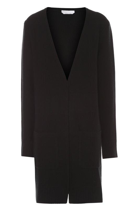 Удлиненный кардиган фактурной вязки с накладными карманами HUGO 50323563