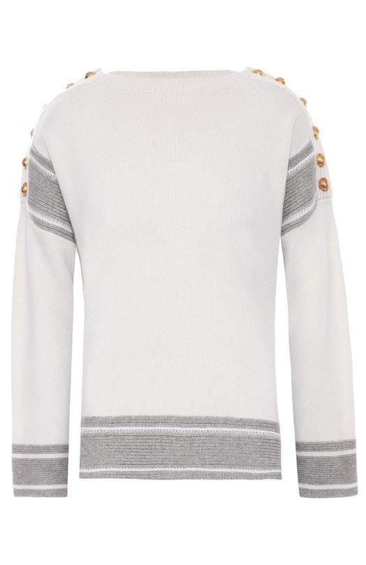Кашемировый пуловер с декоративной отделкой Alexander McQueen 439002/Q1JBY