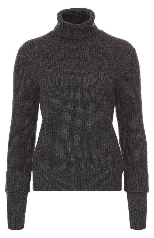 Шелковый свитер фактурной вязки с высоким воротником Michael KorsСвитеры<br>Для создания свитера серого цвета Майкл Корс выбрал объемную шелковую пряжу с добавлением волокон мягкого мохера. Высокий воротник, как у водолазки, двухслойные манжеты и пояс связаны в технике английской резинки. Модель вошла в коллекцию сезона осень-зима 2016 года.<br><br>Российский размер RU: 42<br>Пол: Женский<br>Возраст: Взрослый<br>Размер производителя vendor: S<br>Материал: Шелк: 85%; Мохер: 15%;<br>Цвет: Серый