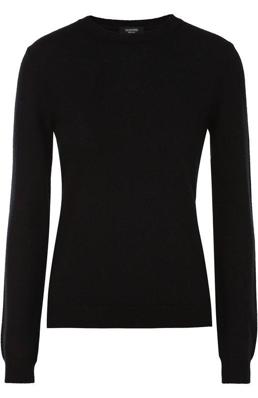 Купить Кашемировый пуловер с заклепками Valentino, LB0KC17M/2TD, Италия, Черный, Кашемир: 100%;