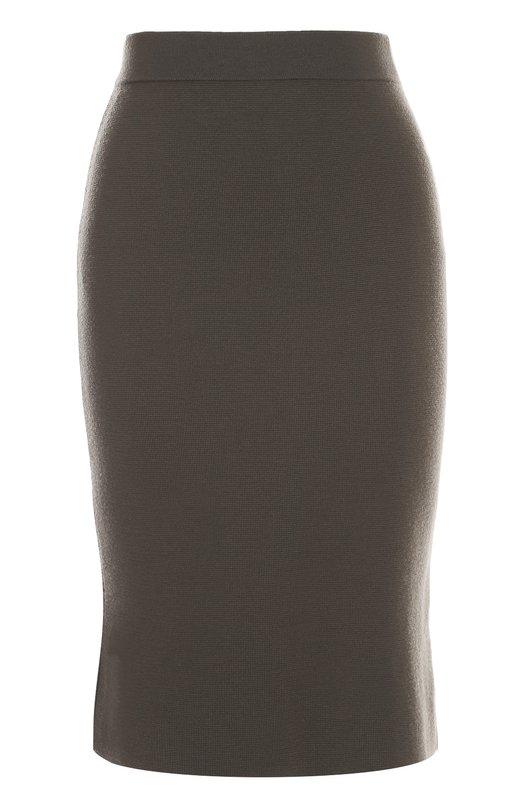 Вязаная юбка-карандаш с разрезом CrucianiЮбки<br>Юбка-карандаш с эластичным поясом вошла в коллекцию сезона осень-зима 2016 года. Модель со шлицей выполнена из мягкой и прочной шерсти цвета хаки. Предлагаем носить с черными ботильонами и поло в тон.<br><br>Российский размер RU: 42<br>Пол: Женский<br>Возраст: Взрослый<br>Размер производителя vendor: 40<br>Материал: Шерсть: 100%;<br>Цвет: Хаки
