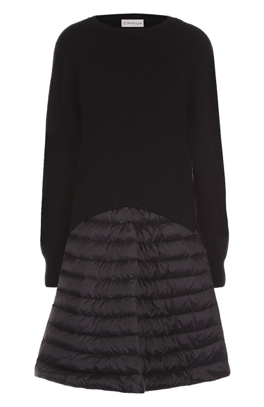 Платье фактурной вязки с утепленной юбкой Moncler B2-093-95567-00-95116