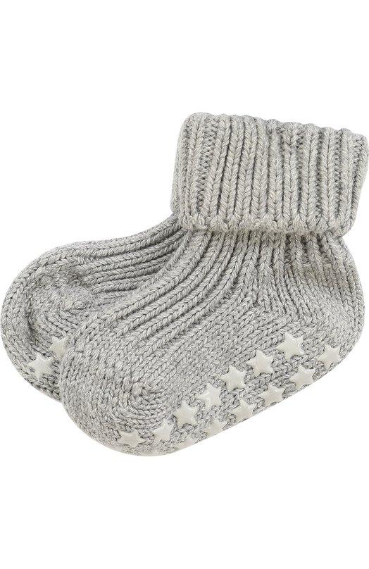 Вязаные носки Catspads FalkeАксессуары<br>Вязаные носки Catspads вошли в осенне-зимнюю коллекцию 2016 года. Для создания модели с отворотами мастера бренда использовали мягкую хлопковую пряжу серого цвета. Подошва дополнена силиконовыми подушечками в виде звезд, препятствующими скольжению по гладкому полу.<br><br>Размер Months: 3<br>Пол: Женский<br>Возраст: Для малышей<br>Размер производителя vendor: 62-68cm<br>Материал: хлопок: 96%; Хлопок: 96%; Эластан: 2%; Полиамид: 2%; полиамид: 2%; эластан: 2%;<br>Цвет: Серый