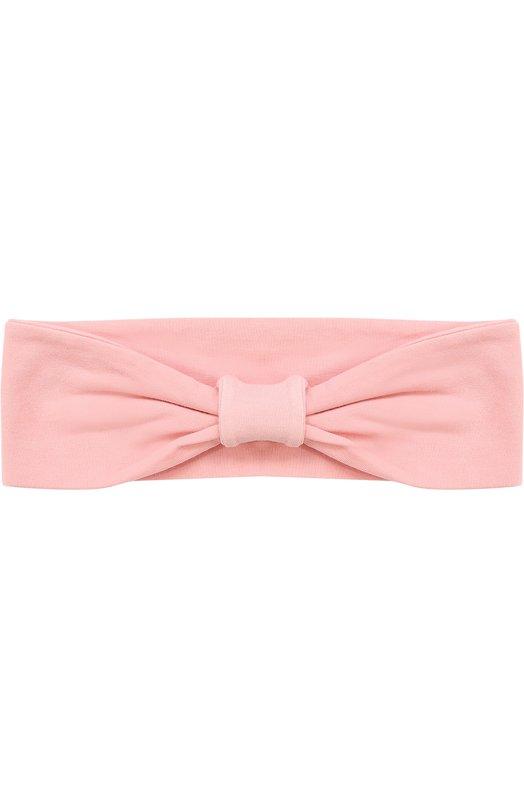 Эластичная повязка на голову с бантом DehaГоловные уборы<br><br><br>Пол: Женский<br>Возраст: Детский<br>Размер производителя vendor: XXS-S<br>Материал: Хлопок: 88%; Эластан: 12%;<br>Цвет: Розовый